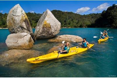 Kayak en el Abel Tasman