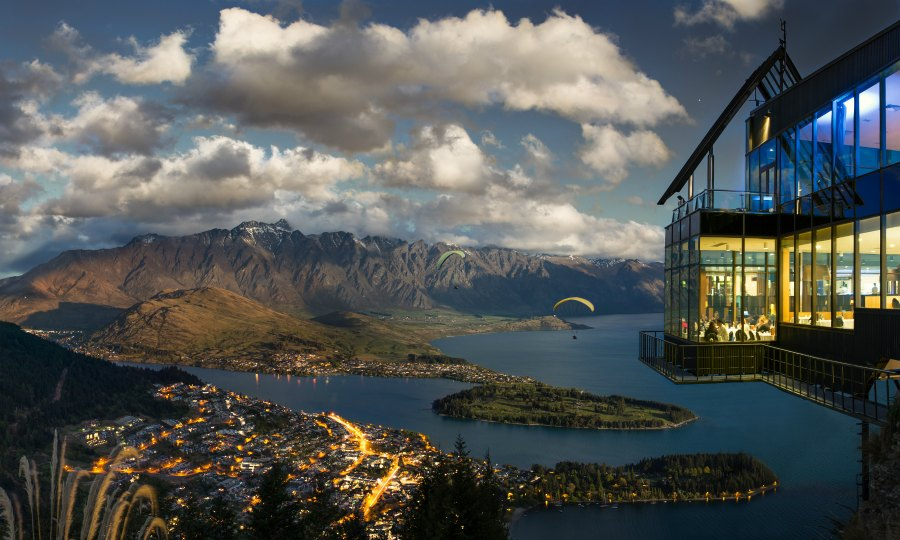 Vista de Queenstown desde Skyline